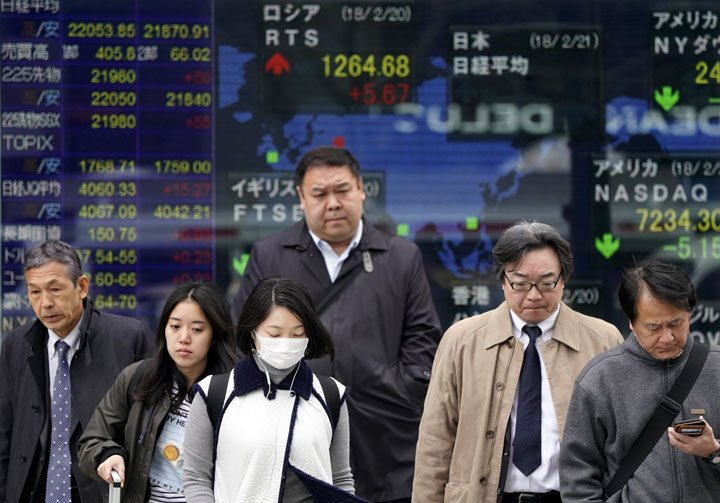 @BroadcastImagem: Bolsas asiáticas ignoram fraqueza em Wall Street e fecham em alta. Shizuo Kambayashi/AP