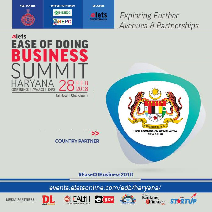test Twitter Media - Elets Ease of Doing Business Summit - Haryana welcomes High Commission of Malaysia, Delhi as Country Partner   Visit: https://t.co/AFZVv0di9W  #EaseOfBusiness2018  @cmohry  @Industrieshry @DIPPGOI @hcikl https://t.co/kugdvPjKJN
