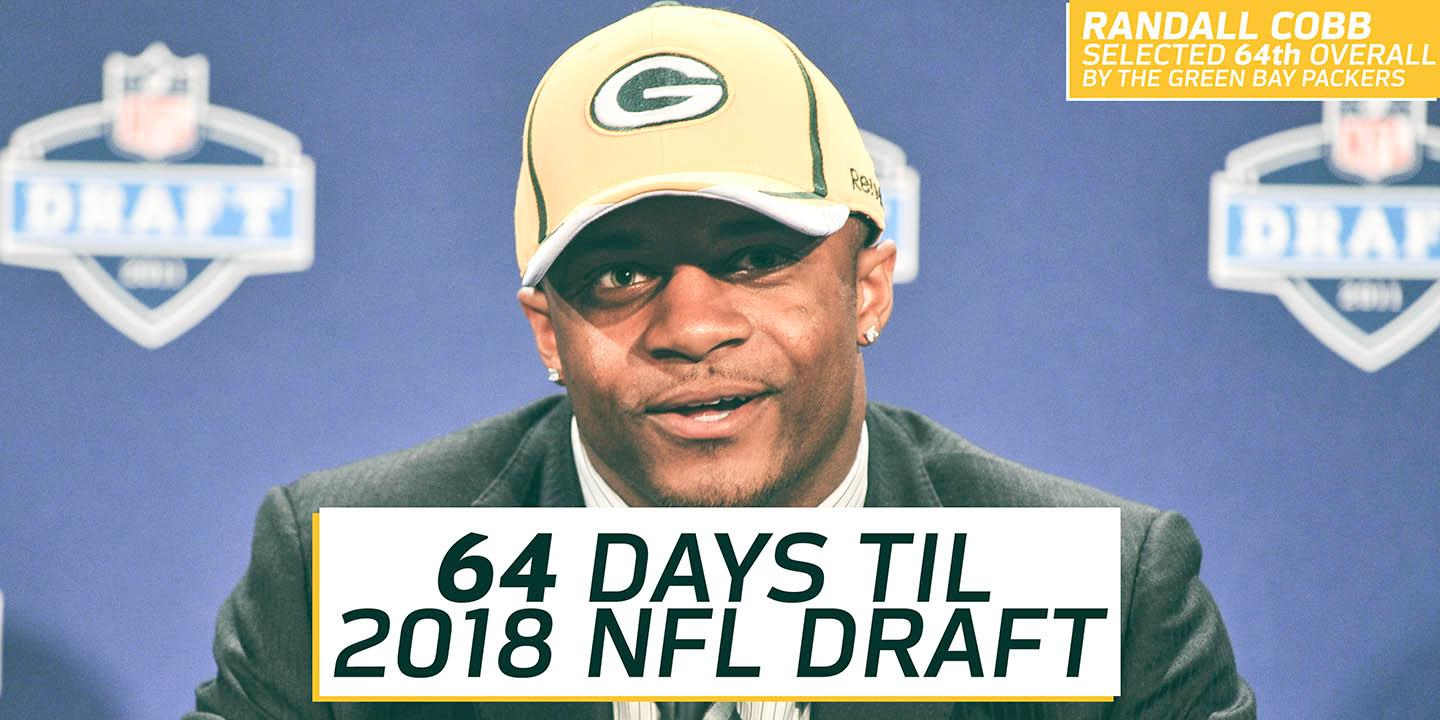 The countdown to the #NFLDraft is on! https://t.co/DOpeq8UPxD