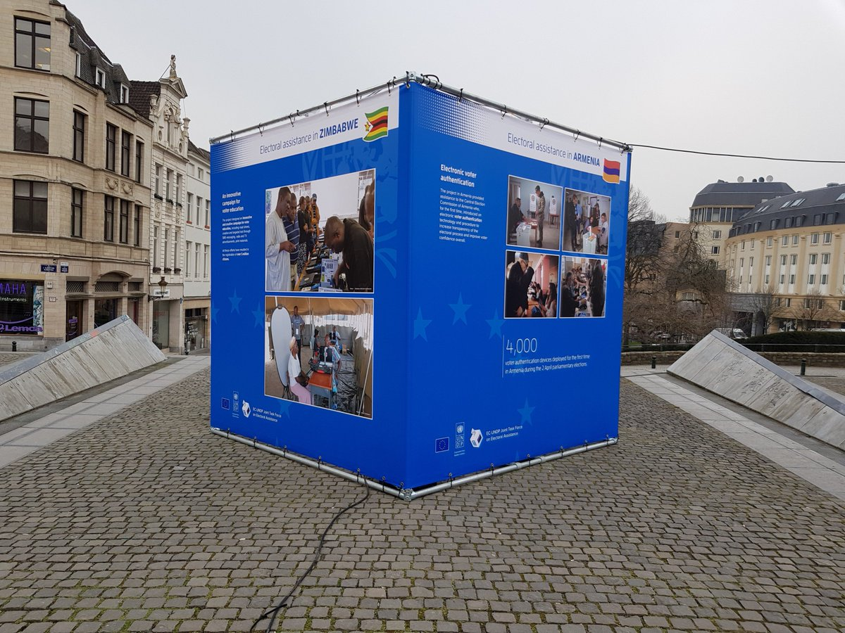 test Twitter Media - Are you in Brussels these days?  Do not miss the photo exhibition in Place de l'Albertine showcasing our partnership with @UNDP to provide electoral assistance and support democracy around the world.   🗳️ 🌍 👇 https://t.co/flBl7BumPK
