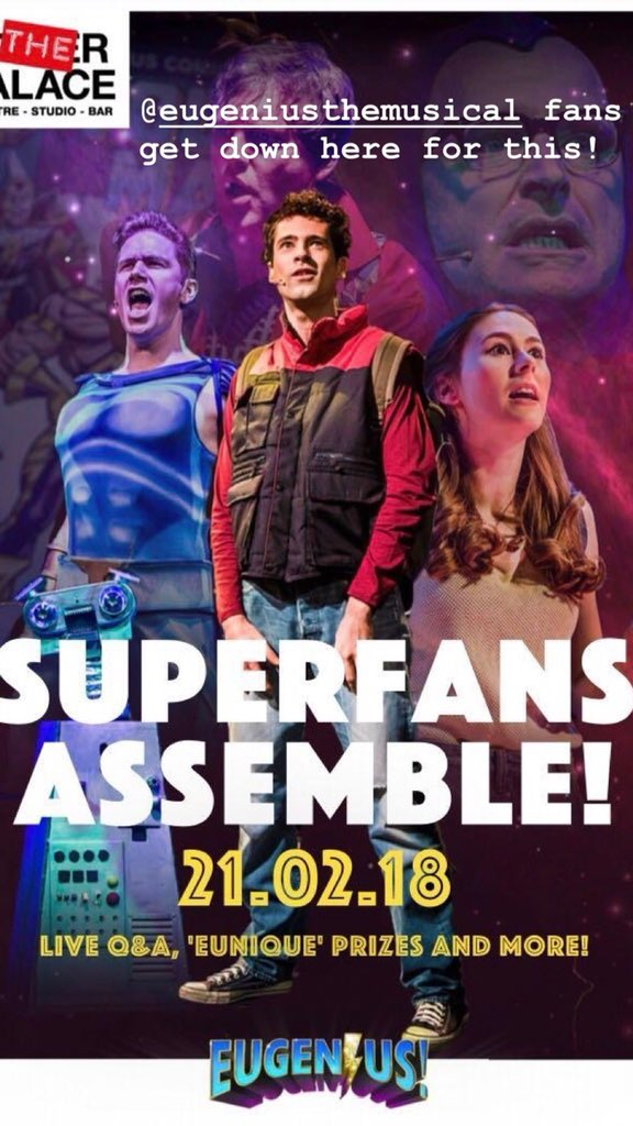 test Twitter Media - RT @alex_tranter: SUPERFANS ASSEMBLE - Tonight is @eugeniusuk superfan night. It is gonna be crazy! https://t.co/SBLprufumz