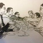 RT : 昨年1月14日に描いていた #バイプレ絵 手前右が大杉漣さん。まだまだ色...