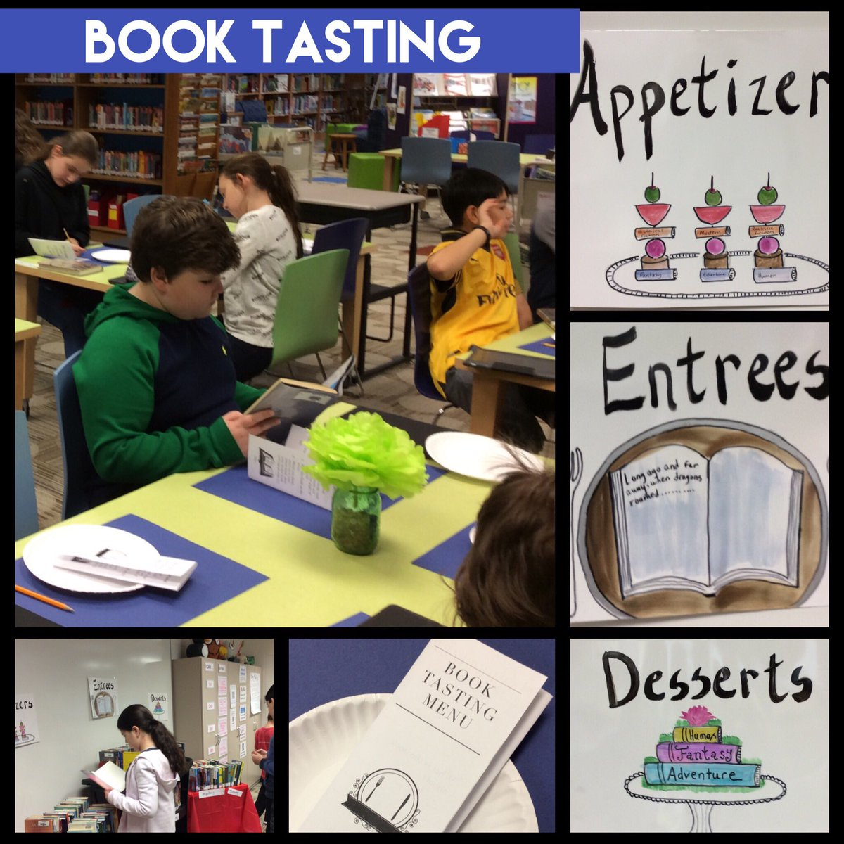 test Twitter Media - Book tasting for 5th graders this week!  #d30learns @Wescott5R @wescott5B https://t.co/qV6TjfVCEp