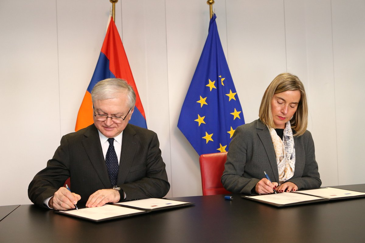 test Twitter Media - .@FedericaMog and 🇦🇲Amernia FM Nalbandian signed new partnership priorities with 4 main areas of cooperation including: ✅Institutions and good governance; ✅Economic development ✅Energy efficiency and climate action ✅Mobility https://t.co/EIIRihnDV3 https://t.co/lABPHwsAFl