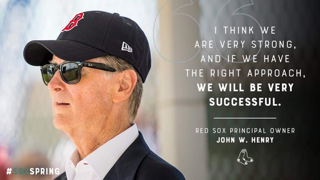 #RedSox Principal Owner John Henry shared his thoughts on the 2018 team: https://t.co/oKY3nM1hVQ
