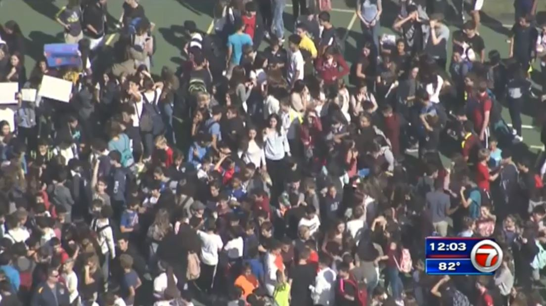 Students stage walk outs acros south florida