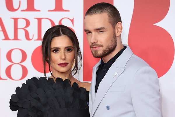 Cheryl and Liam Payne arrive on the Britawards2018 red carpet together
