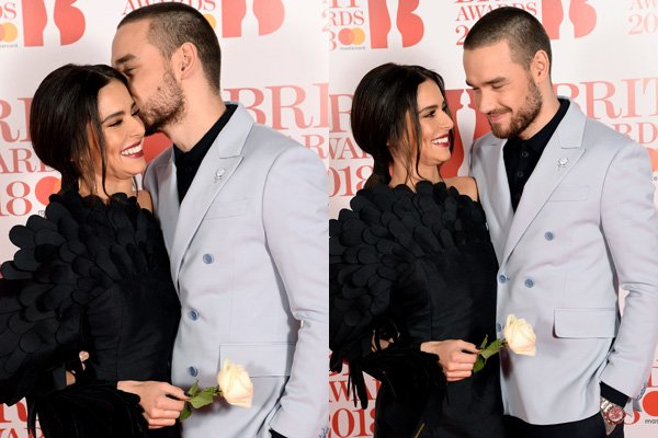 Cheryl and Liam Payne put on VERY cosy display on the Britawards2018 red carpet