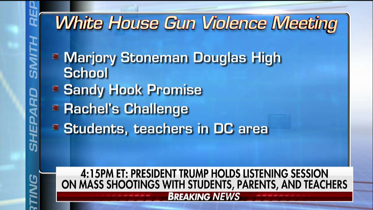 NEWS ALERT: At 4:15p ET, @POTUS holds listening session on mass shootings with students, parents, and teachers. https://t.co/BWgWWnag0S