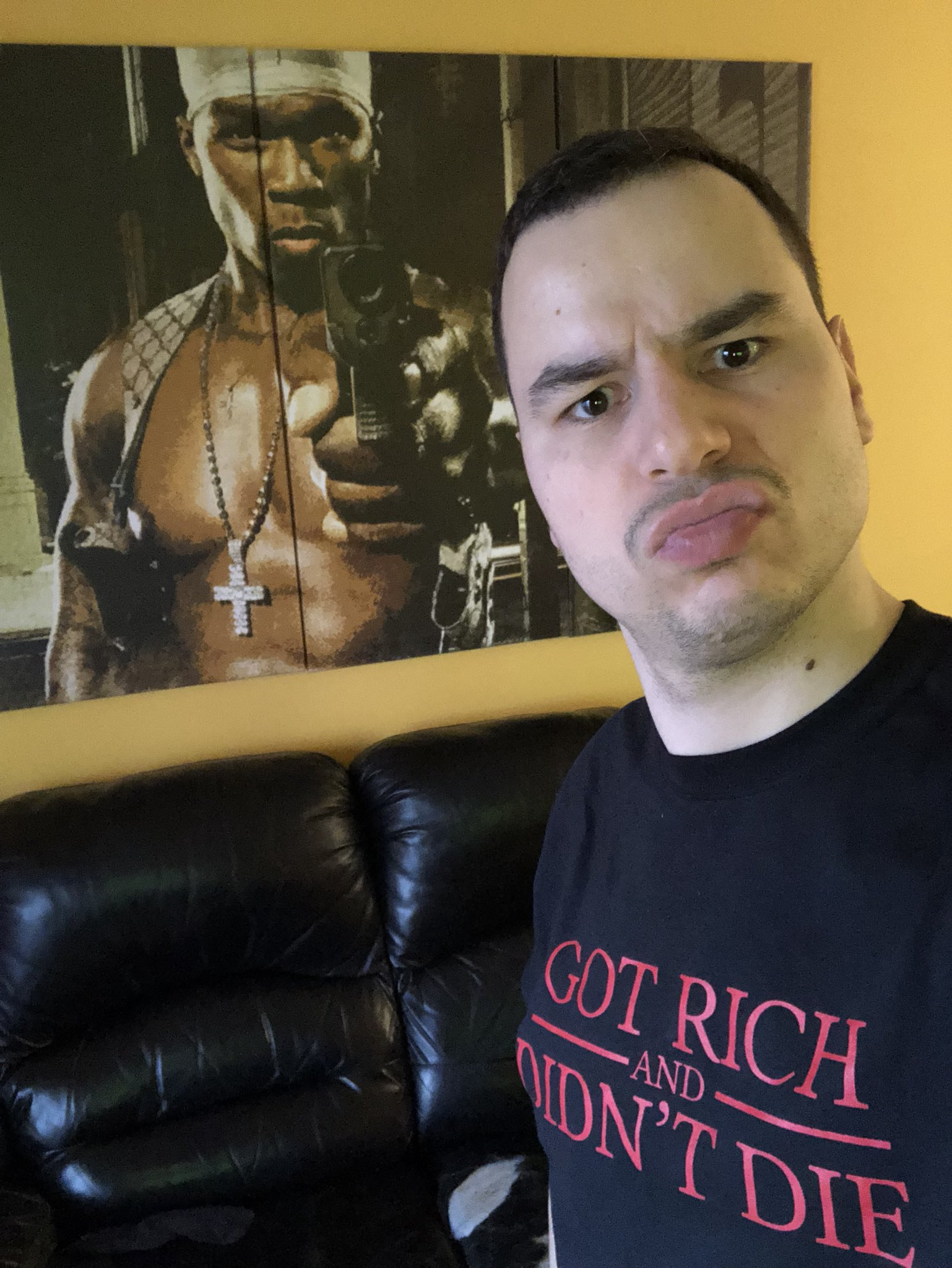 Celebrating @50cent Get rich or die trying album release 15 yrs ago with the Got rich and didn't die t-shirt! https://t.co/At88Fzbdrd