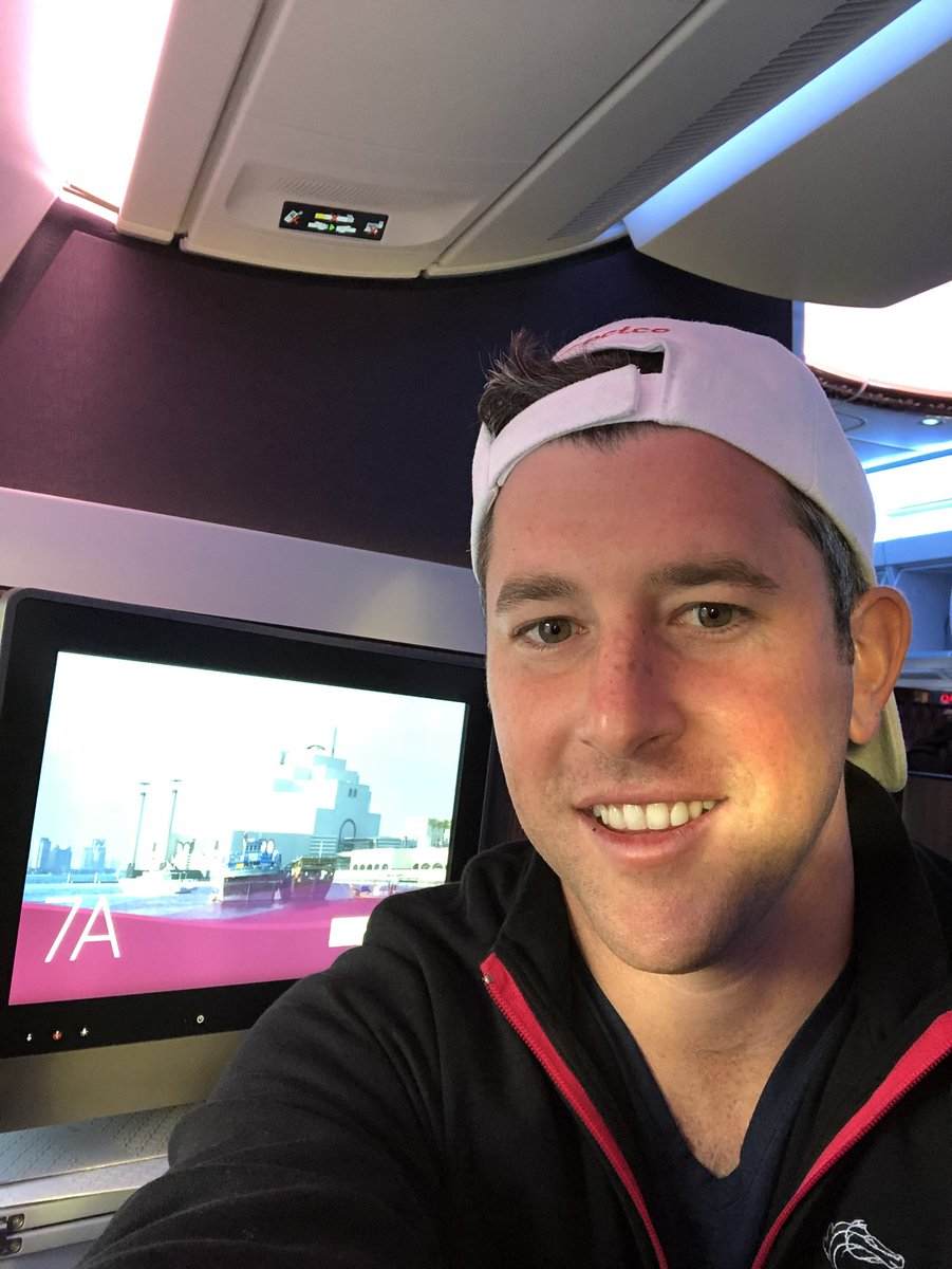 test Twitter Media - On my way to Doha Qatar 🇶🇦 for the @Q_REC Emir's Trophy. 16 hours 💤  but the best airline @qatarairways. https://t.co/72P0hmzMue