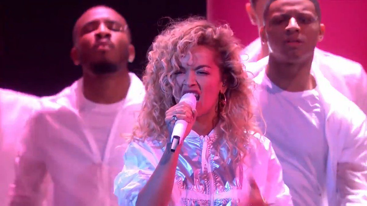 RT @BRITs: ⭐️ @RitaOra slayed at The #BRITs 2018 with her medley of 'Your Song' and 'Anywhere' ???? #RitaOraBRITs https://t.co/sLX4rEvMLz