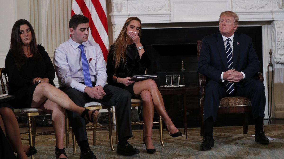 Florida School Students And Parents Tearfully Ask Trump To Address Gun Violence