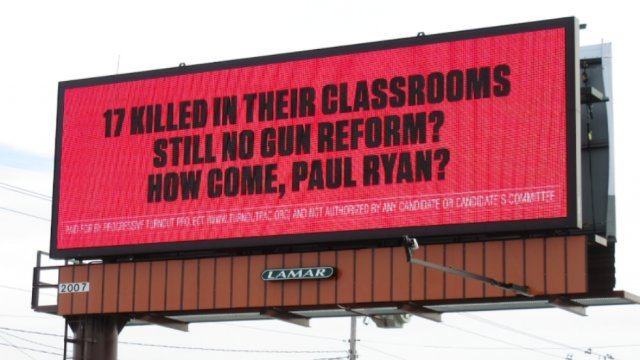 Billboard in Paul Ryan's hometown calls him out over lack of action on guns https://t.co/l6nFOlQJag https://t.co/LM2rFYd8Td
