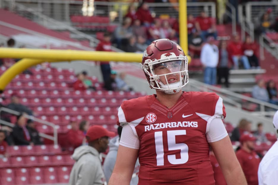Report: Arkansas QB Cole Kelley pleads guilty to DWI, gets suspended sentence, fine
