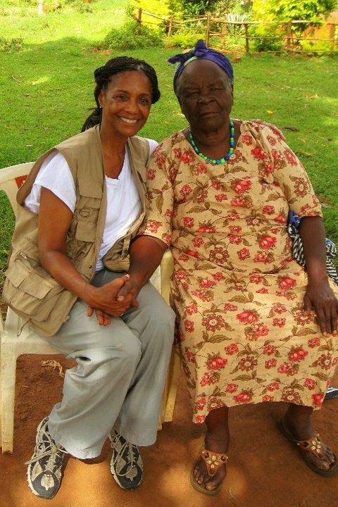 1 pic. Sarah Onyango Obama (born 1920-1921) is a Kenyan educator and philanthropist. calls