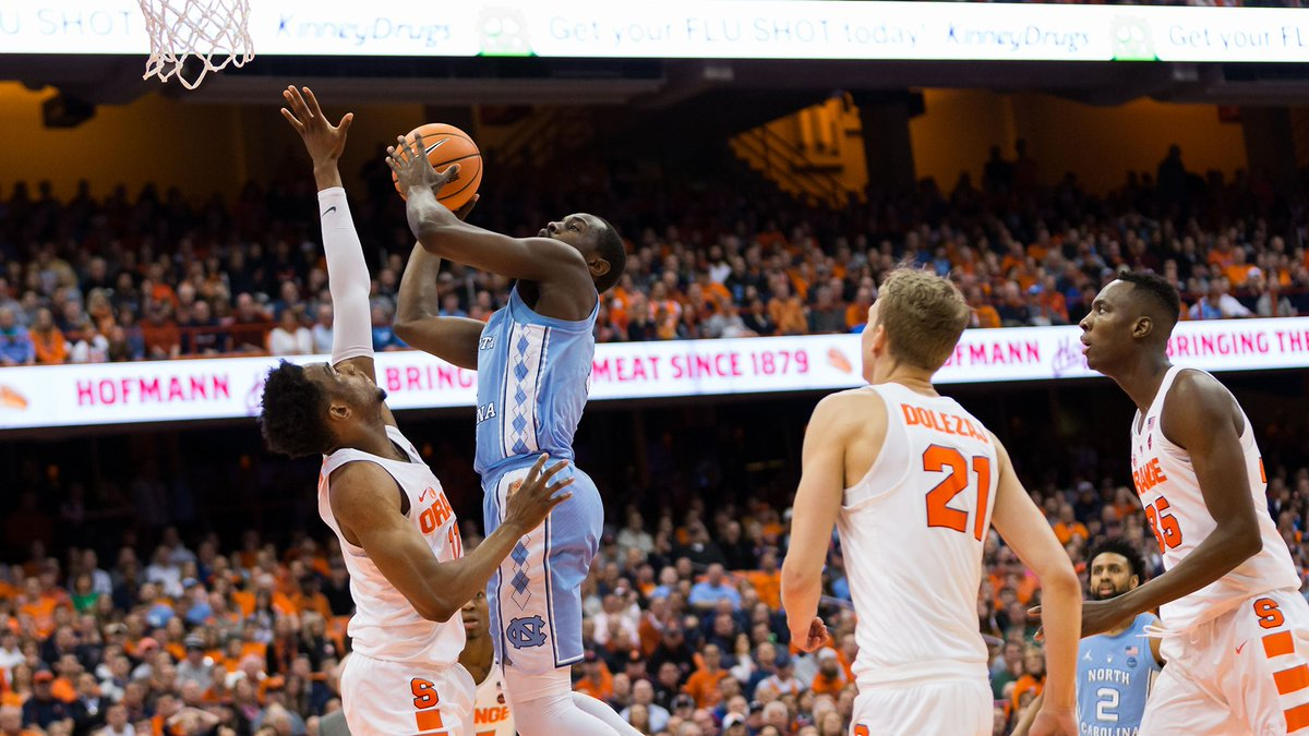 Media timeout with 7:44 to play in the 2nd half. Carolina leads, 66-59.   Pinson now has 20 points, 7 assists & 5 rebounds. https://t.co/MblEIAdekt