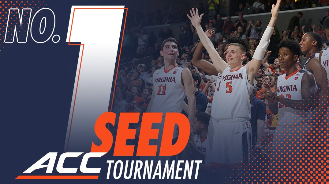 RT @UVAMensHoops: With tonight's win, we are officially the No. 1⃣seed for the 2018 ACC Tournament! #GoHoos https://t.co/6x5zoRP3WC
