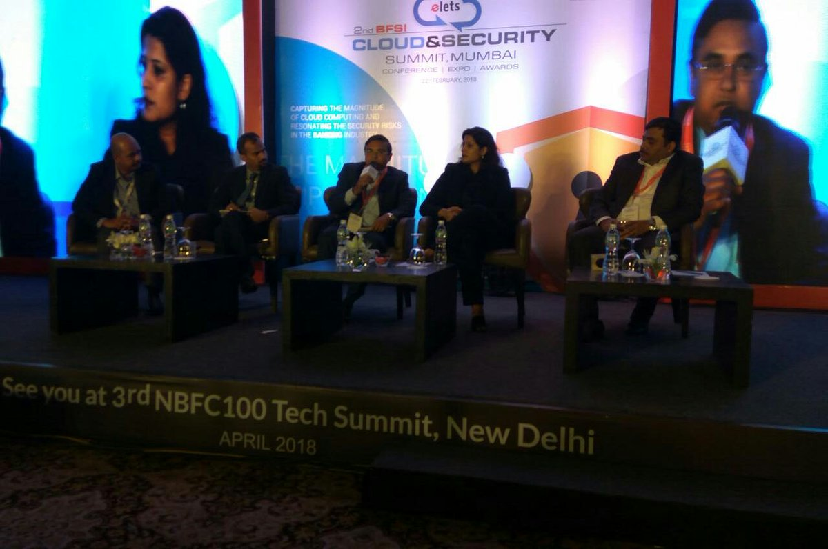 "test Twitter Media - Panel Discussion on "" #CloudComputing: Opportunities, Challenges, Risk and Mitigations in #BFSI Sector"", commencing at 2nd BFSI Cloud & Security Summit. #CloudSecurity https://t.co/Jqwu9RlmQv"