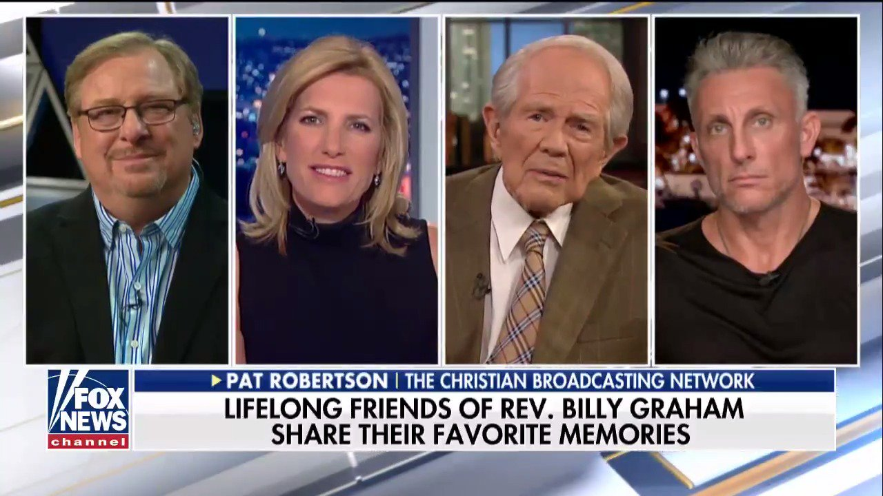 Pat Robertson shares memories of Rev. Billy Graham. @IngrahamAngle  https://t.co/enVIuZ6x9r https://t.co/GuEEJ7JnFE