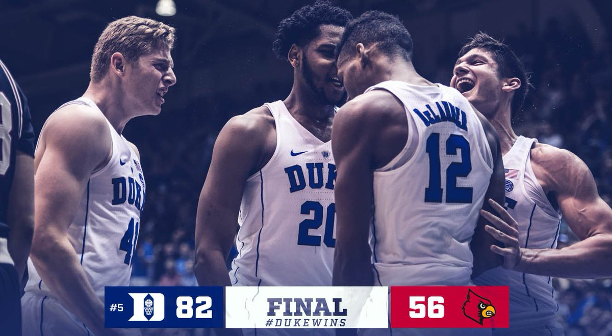 Another Crazie night in Cameron ➡️ Win 23 ✅  #DukeWins https://t.co/ViHFMdo91Z