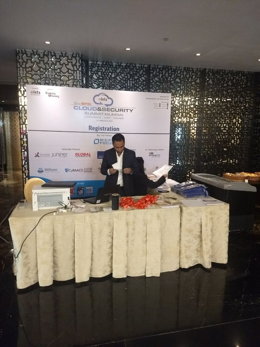 test Twitter Media - .@eletsonline welcomes you to 2nd BFSI Cloud & Security Summit, commencing today at @stregismumbai. #CloudSecurity https://t.co/RocMiPp8d0