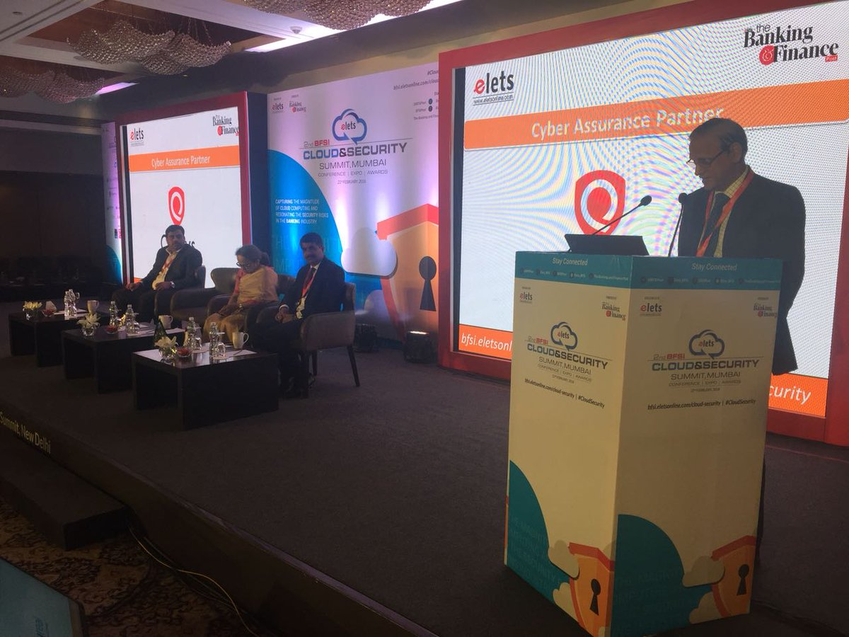 test Twitter Media - K Ramachandran, Senior Advisor-Banking Technology, @IBA_org_in sharing his expert views on Importance of Data Security: Challenges & Opportunities at 2nd #BFSI Cloud & Security Summit. #CloudSecurity https://t.co/nxTIxPFKQX
