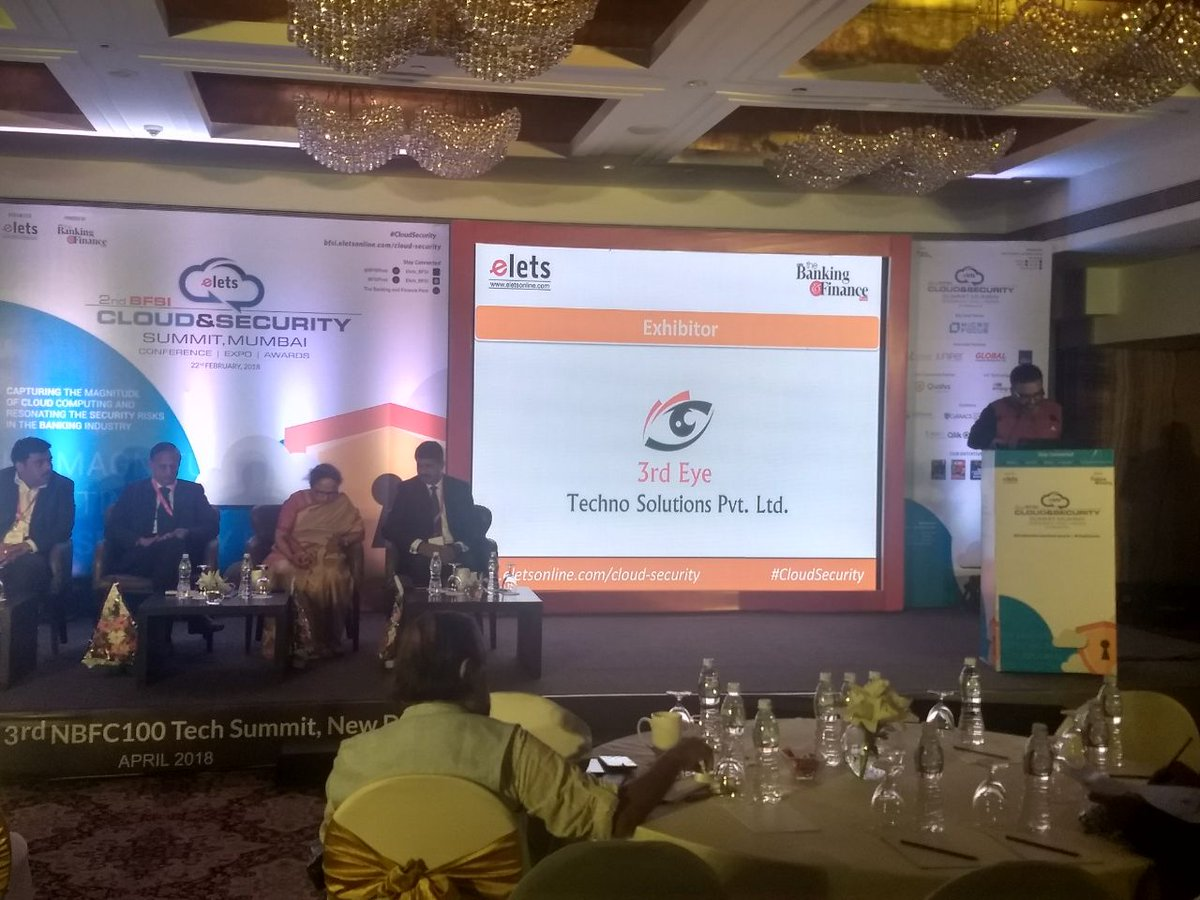 test Twitter Media - . @SAVDAGREAT, Sr.Asst Editor, @eletsonline welcoming the esteemed dignitaries on the dais at 2nd #BFSI Cloud & Security Summit. #CloudSecurity https://t.co/hhOfoOFIHA