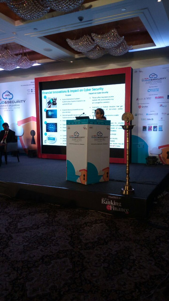 test Twitter Media - Guest of Honour @ramavshree , Chief Executive Officer, @DSCI_Connect  addressing the inaugural session of 2nd #BFSI Cloud & Security Summit, Mumbai. #CloudSecurity https://t.co/wOpydedskd