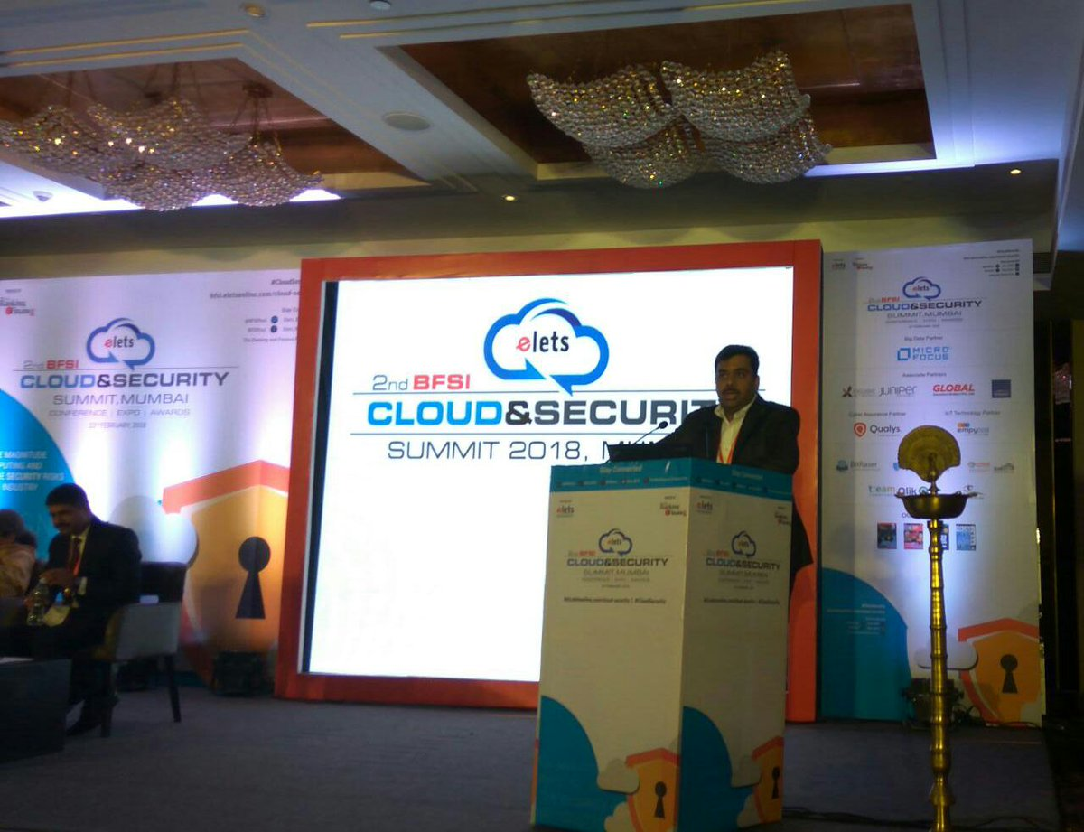 test Twitter Media - Mithilesh Singh, Director & Head - Technology Audit,@IDFC_Bank sharing his expertise on #CloudComputing and its significance in the banking sector at 2nd BFSI Cloud & Security Summit.#CloudSecurity https://t.co/ZV2ozTc149