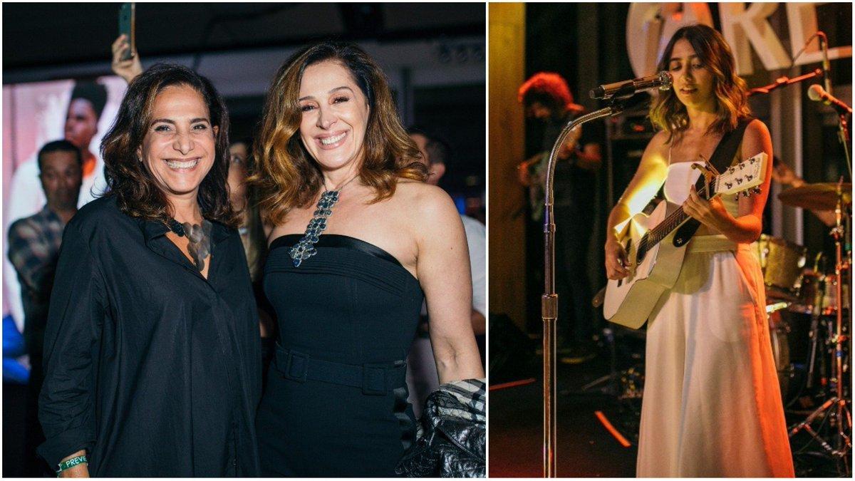Claudia Raia. Foto do site da Contigo que mostra Fashion show reúne famosos como Cláudia Raia e Totia Meirelles em São Paulo