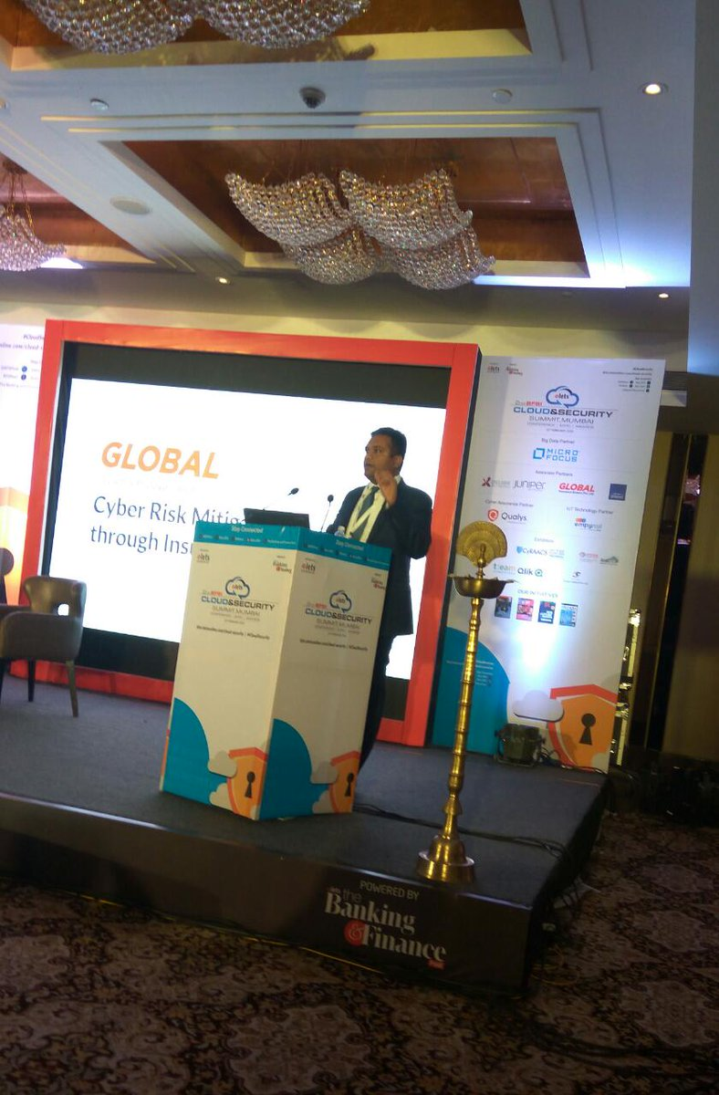 "test Twitter Media - Manoj Kumar AS, Senior Vice President, @Globinsure sharing presentation on ""Cyber Risk Mitigation Through Insurance: Evolving Coverages to Meet Emerging Risks"" at 2nd #BFSI Cloud & Security Summit, #Mumbai. #CloudSecurity https://t.co/BfyWwhhhaC"