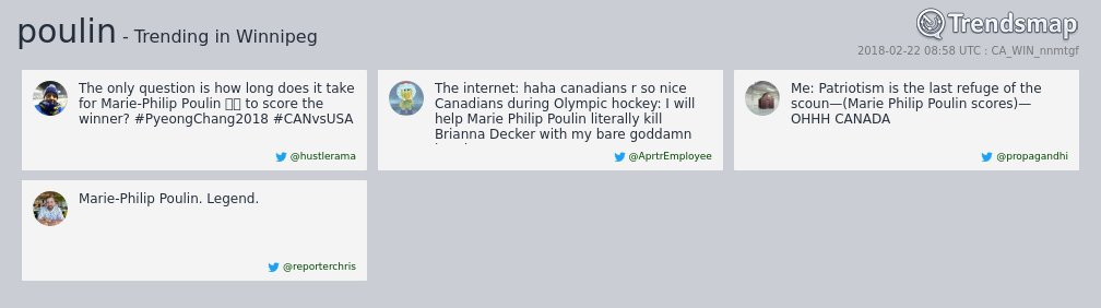 'poulin' is now trending in #Winnipeg  https://t.co/JGd59K02yz https://t.co/LT616zwJLR