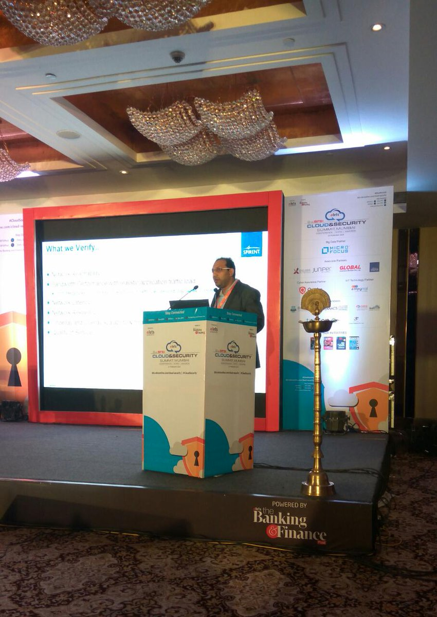 "test Twitter Media - .@keshavaraju, Technical Marketing Engineer (Cloud & Virtualisation Technologies), @Spirent  sharing his views on""Enterprise Cloud Testing & Benchmarking Solutions"" at 2nd #BFSI Cloud & Security, #Mumbai. #CloudSecurity https://t.co/IUk3TojQCC"