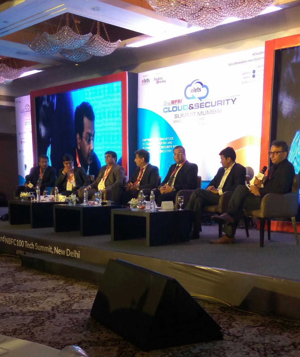 "test Twitter Media - Panelists participating in a discussion on ""Cyber Security: Enhancing the Cyber Security Resilience in the Financial Services Sector"" at 2nd BFSI Cloud & Security Summit, #Mumbai. #CloudSecurity https://t.co/bLWG7RLjon"
