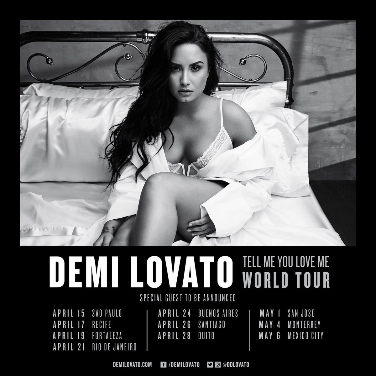 Brazil and Chile!! Tickets for the #TellMeYouLoveMeTour are on sale now ???????????? https://t.co/FdRYQe0I9Y https://t.co/4QuZXb1gRn