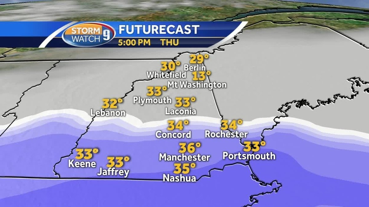 Reality check: Snow for NH Thursday after record highs