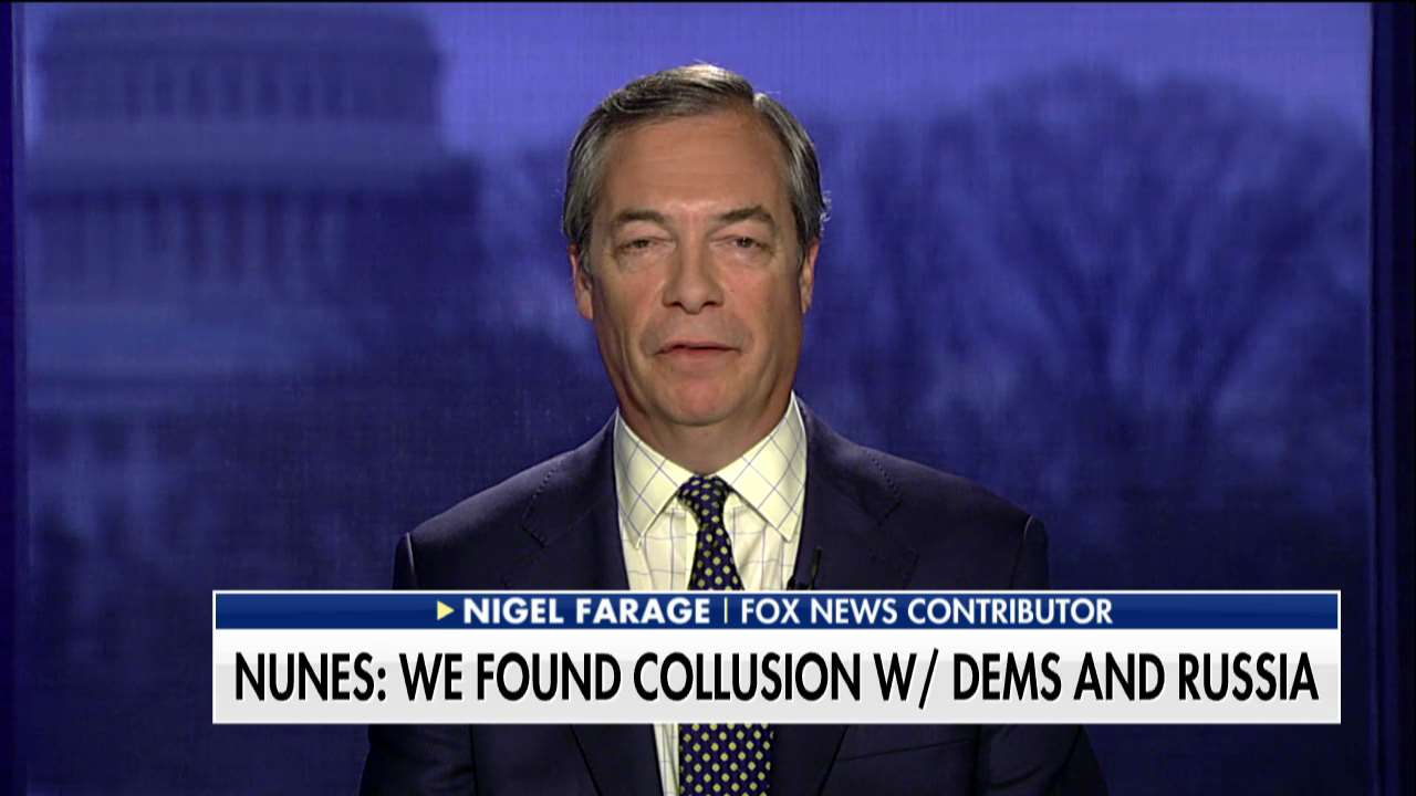 .@Nigel_Farage: 'Clearly there were all sorts of things going on between the Clinton campaign and the Russians.' https://t.co/2apyQwHwsA