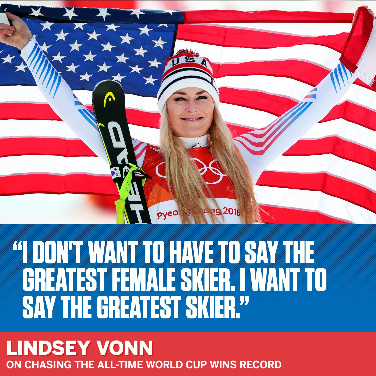 Even if 2018 was @lindseyvonn's last Olympics, she still wants to add to her legacy. https://t.co/iFv6mgABdp