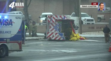 Oklahoma City fire truck overturns on icy roads while responding to call