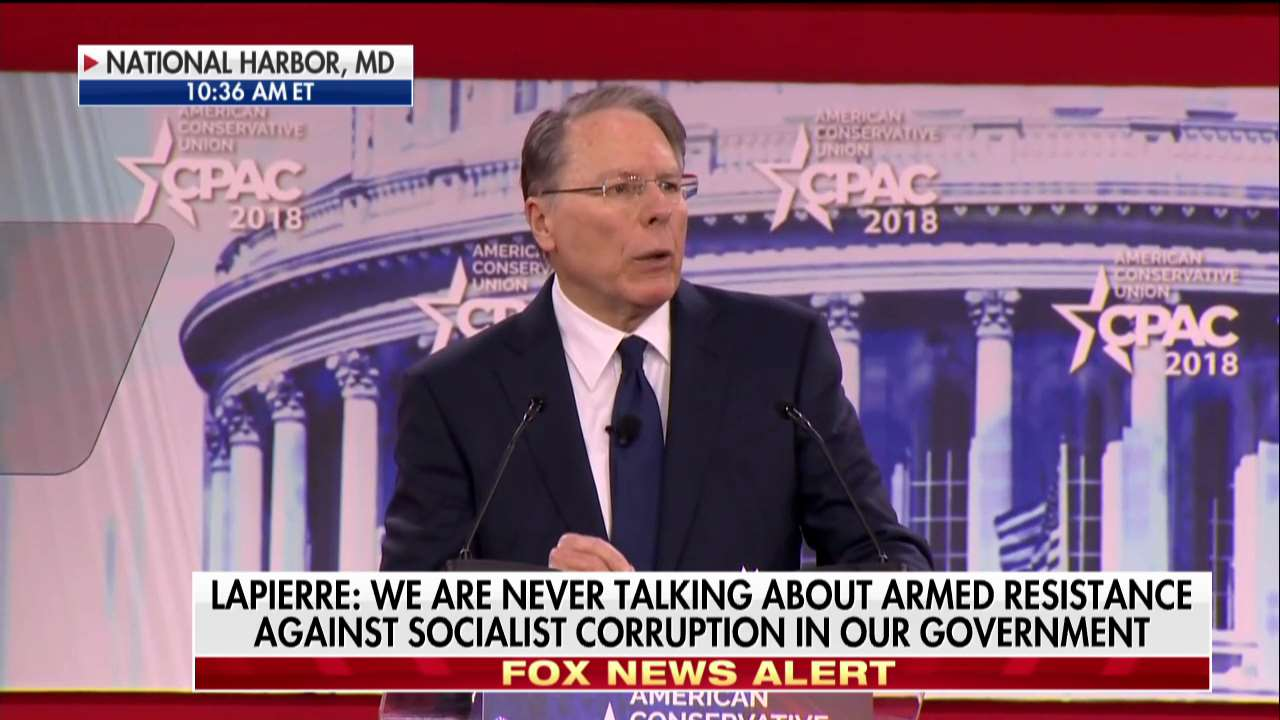 .@NRA's Wayne LaPierre: 'Schools must be the most hardened targets in this country.' #CPAC2018 https://t.co/LgbCbgdbsf