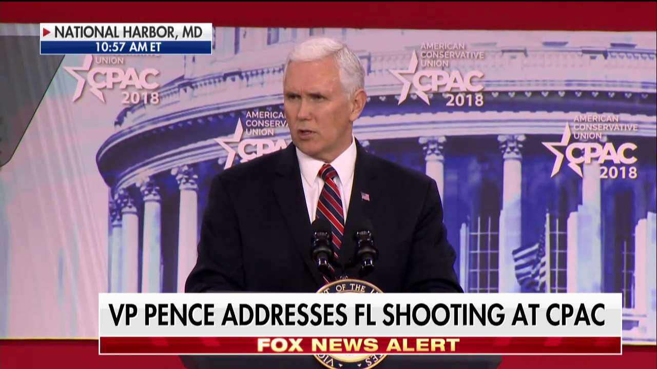 .@VP Mike Pence: 'We'll make the safety of our schools and our students our top national priority.' #CPAC2018 https://t.co/8Vu4UmvoP8