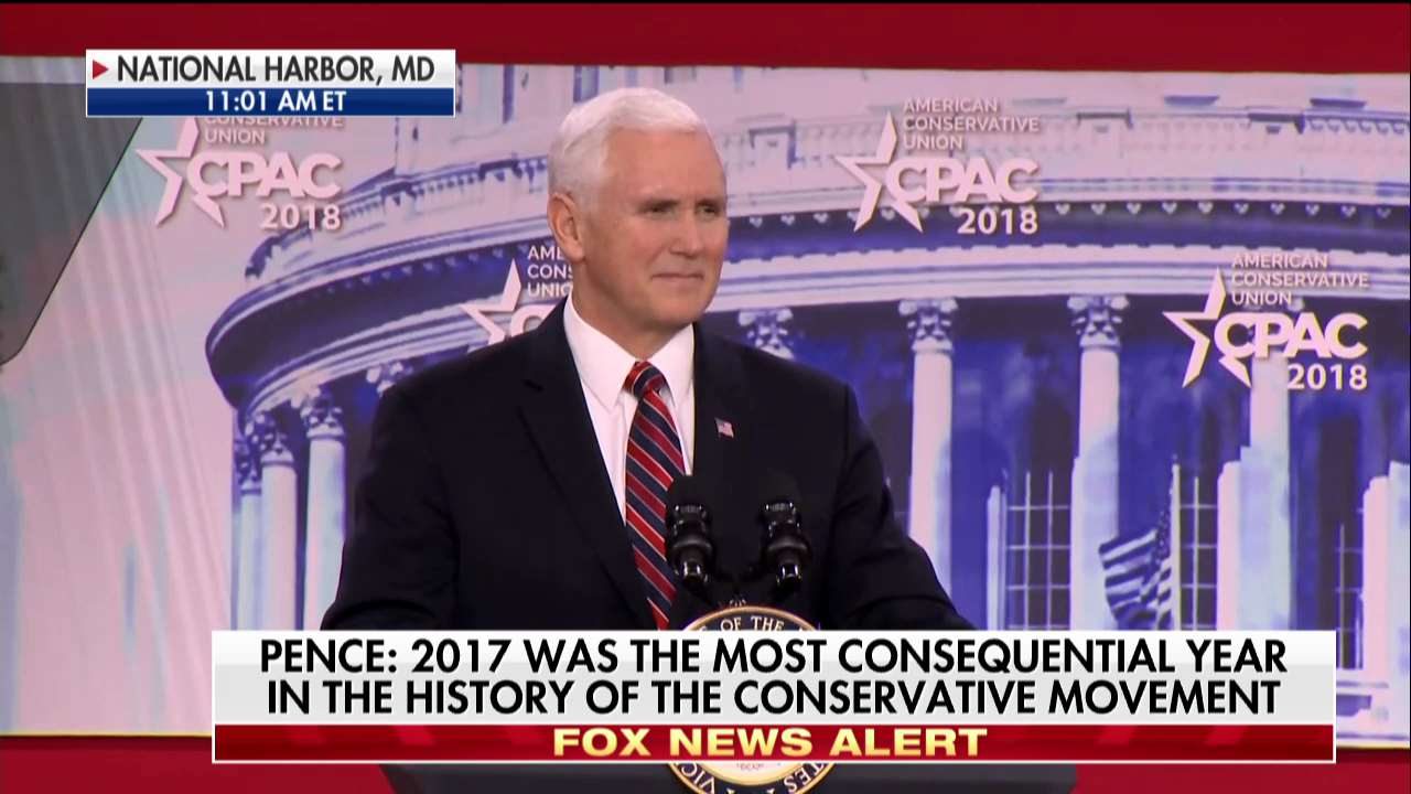 .@VP Mike Pence: 'It's been a year of promises made and promises kept.' #CPAC2018 https://t.co/dfSGO5aV3i
