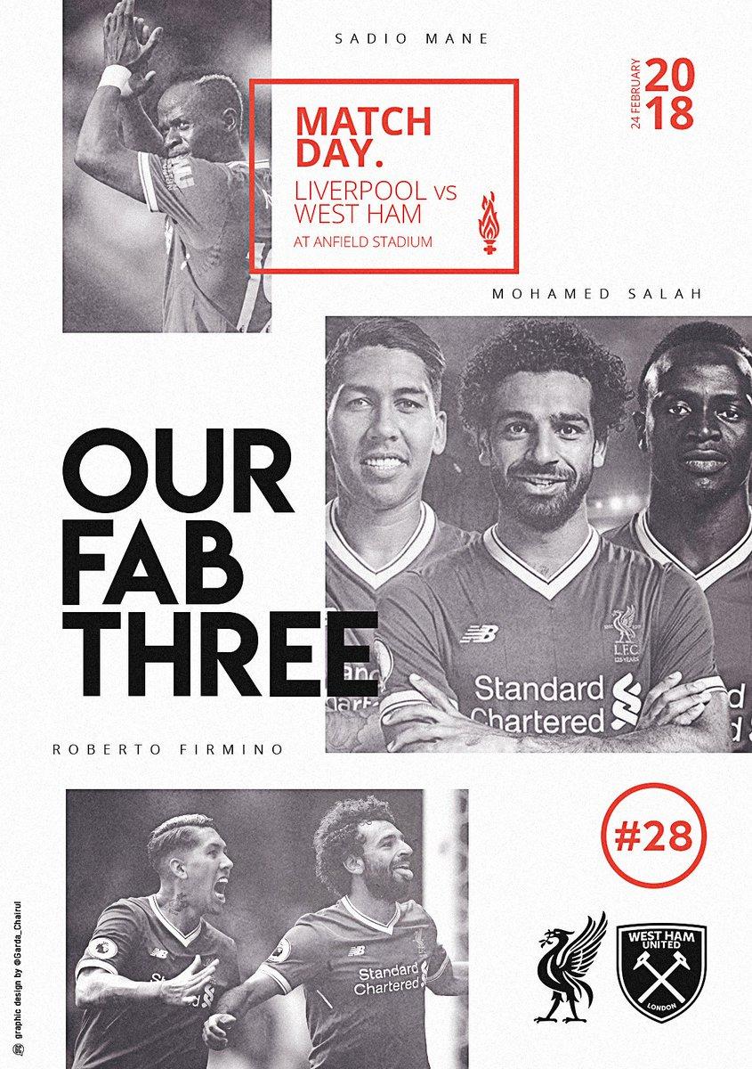 RT @LFC: Our Fab Three 🔥  #MyLFCMatchdayImage https://t.co/azJeg4NOlp