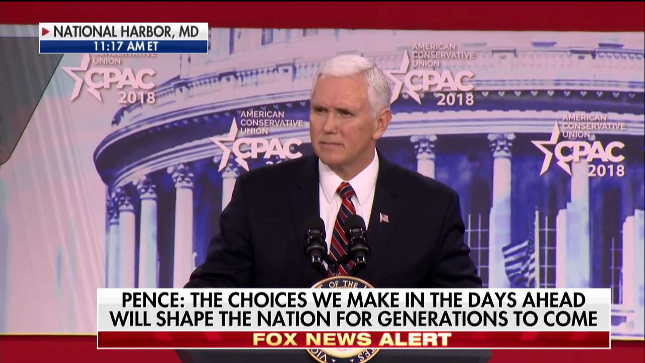 .@VP Mike Pence: 'America is back!' #CPAC2018 https://t.co/8i76H7vYlD