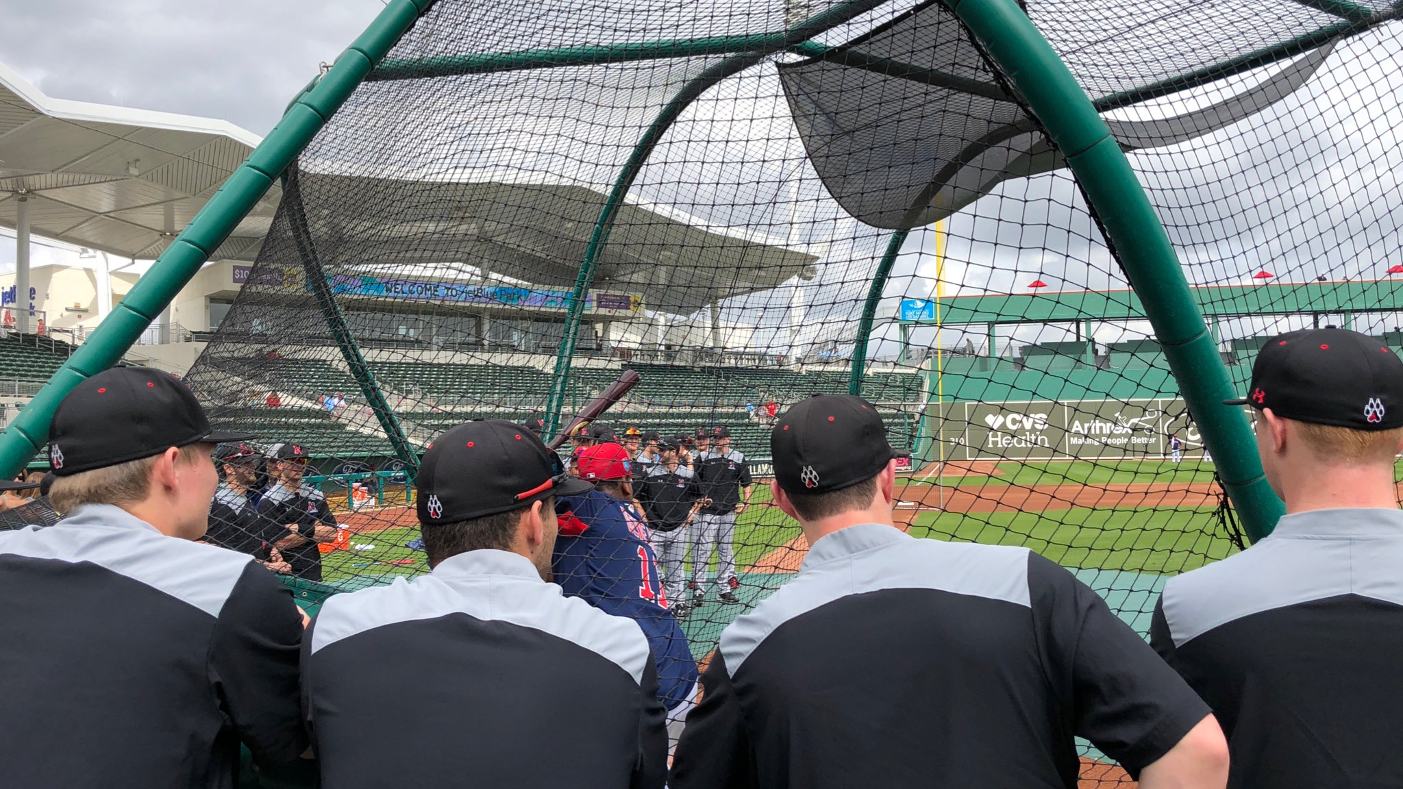 Cool moment for @GoNUbaseball as they watch #SoxBP. https://t.co/gbYGfljpPQ