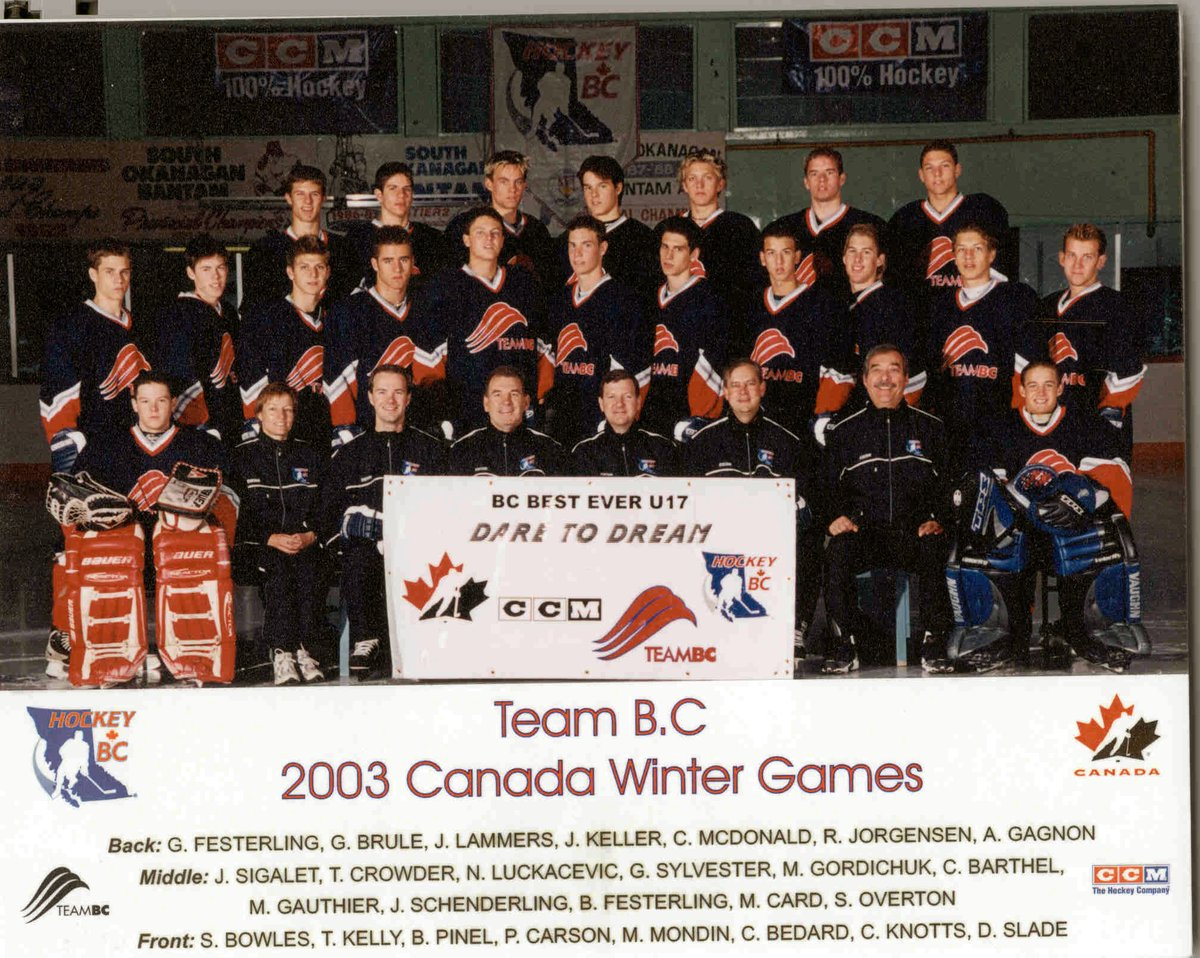 test Twitter Media - #TBT to Team BC's Male Hockey team for the 2003 @CanadaGames which includes Gilbert Brule who is competing with @HC_Men at the Olympics #BCHockey100 https://t.co/1C0fYDRQM4