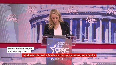 """Marion Maréchal-Le Pen : """"La jeune génération n'est pas encouragée à aimer notre héritage. On leur lave le cerveau en leur faisant honte de leur pays."""" #CongrèsMaryland https://t.co/WJiKtJTByF"""