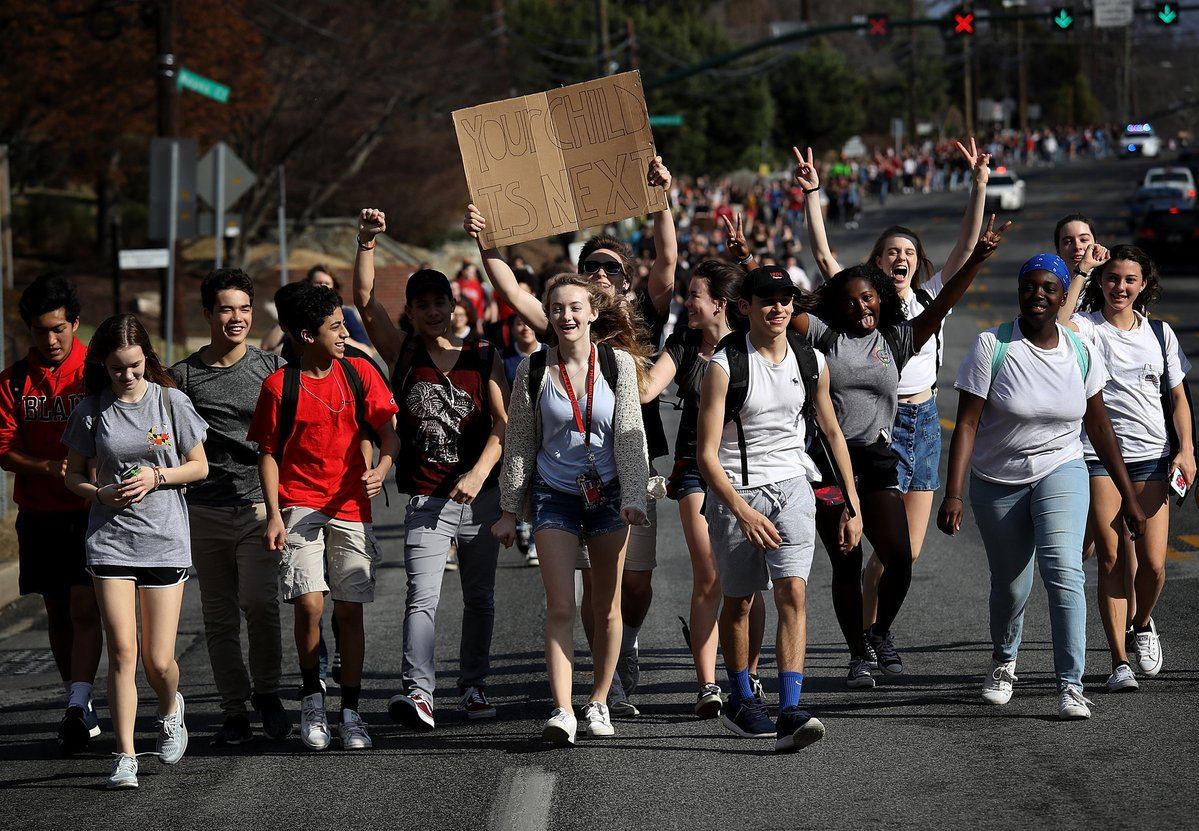 Photos: Students walk out of class to protest gun violence