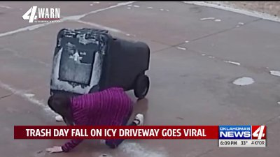 """""""I just kept slipping,"""" Oklahoma girl's attempt at chores during winter weather goesviral"""
